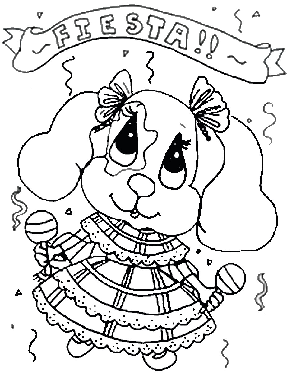 Fiesta Mexican Coloring Pages – Birthday Printable