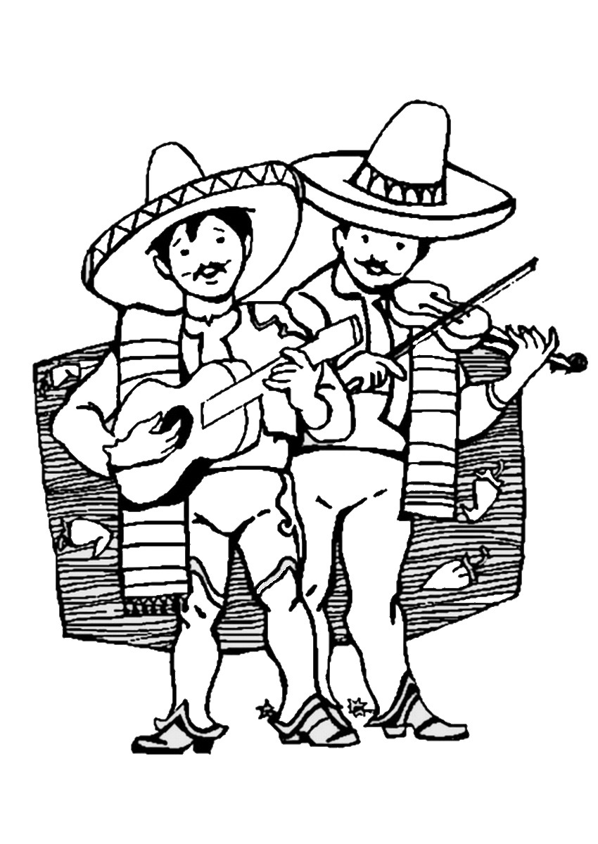 Fiesta Mexican Coloring Pages