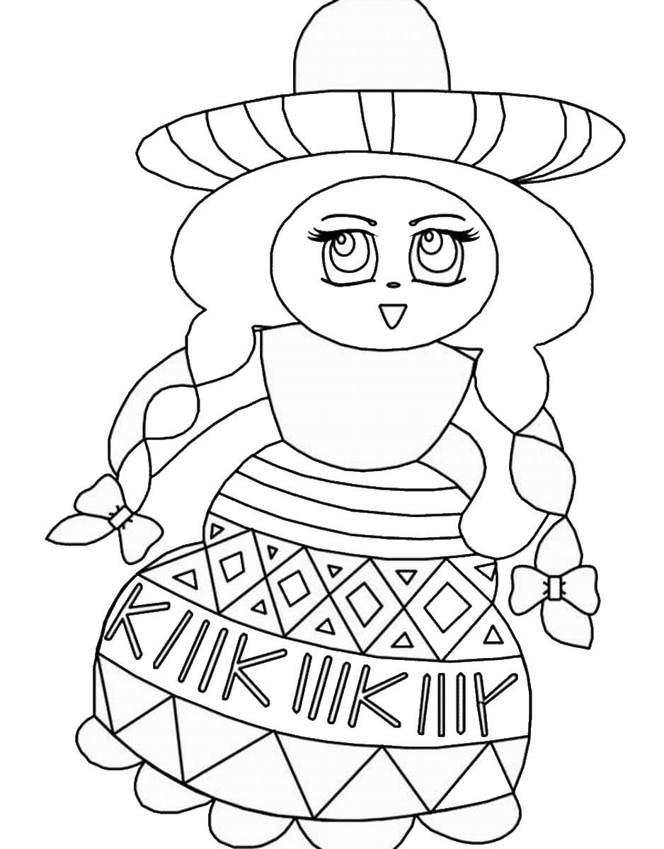 Cinco de mayo mexican flag coloring page - Fiesta Coloring Pages Mexico Coloring Pages