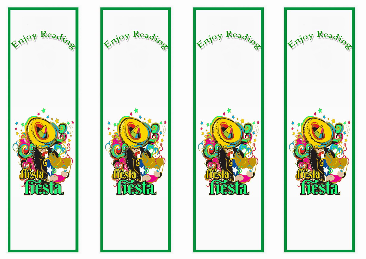 Fiesta Mexican Bookmarks Birthday