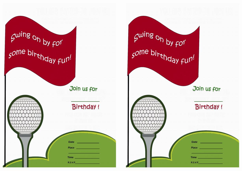 Golf Birthday Invitations Birthday Printable