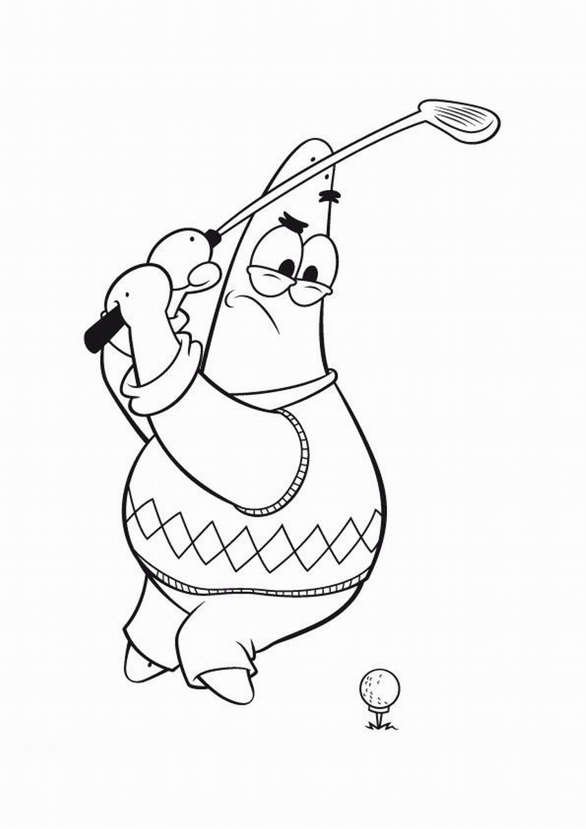 Golf Coloring Pages Birthday