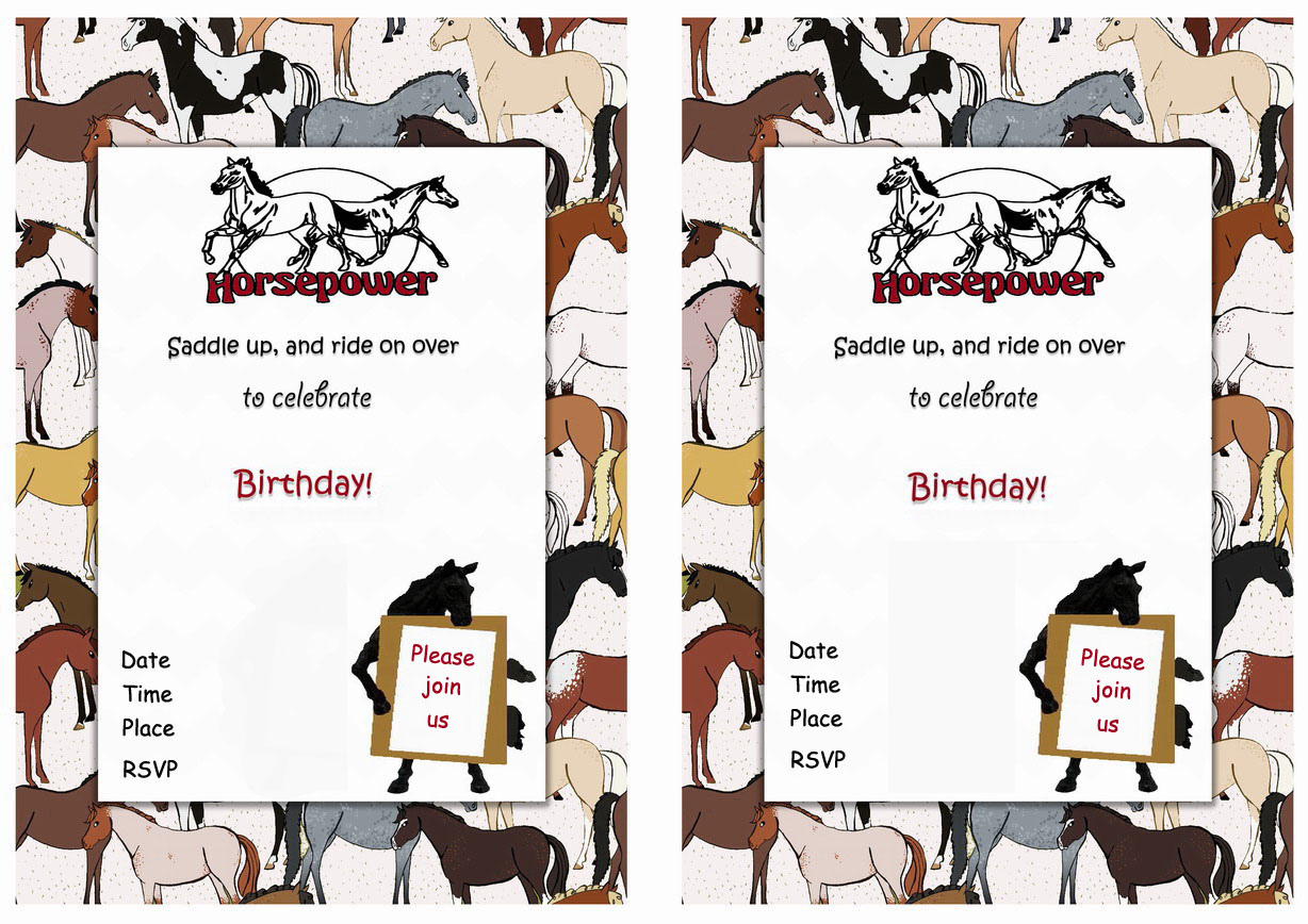 Horse Birthday Invitations – gangcraft.net