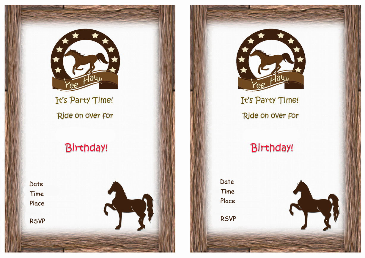 Horse Birthday Invitations – Birthday Printable