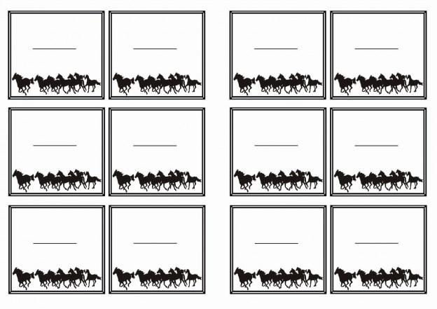 Horse Name Tags Birthday Printable