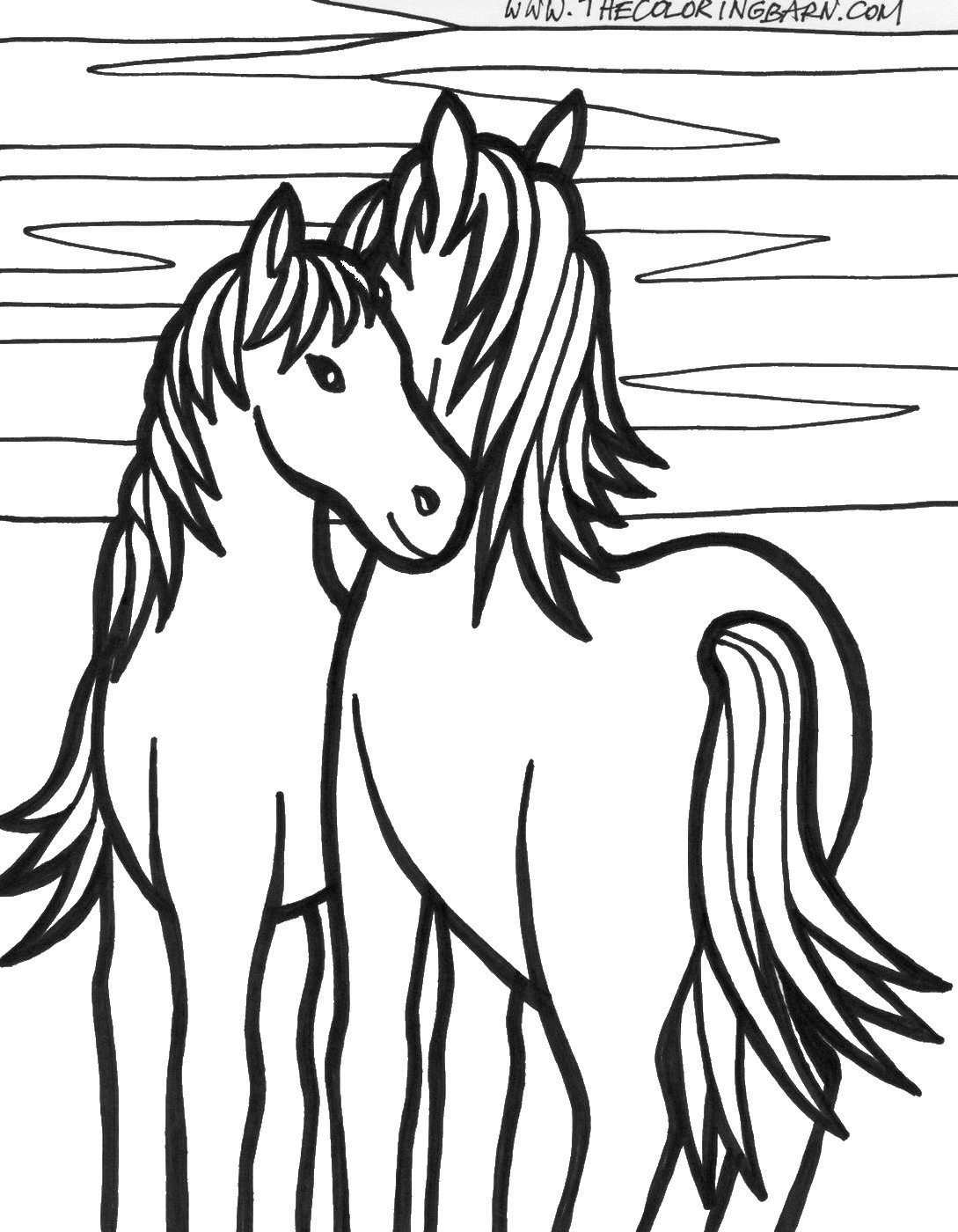 Horse Coloring Pages Birthday