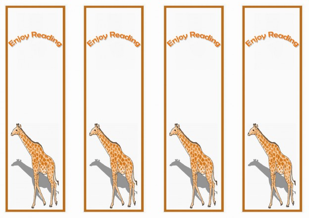 Giraffe Bookmarks – Birthday Printable