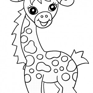 Coloring Page Of A Giraffe Cheap Giraffes In A Tree Coloring