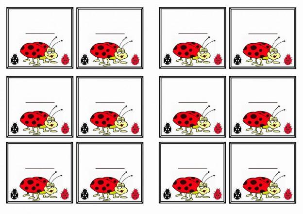 Ladybug Name Tags Birthday Printable