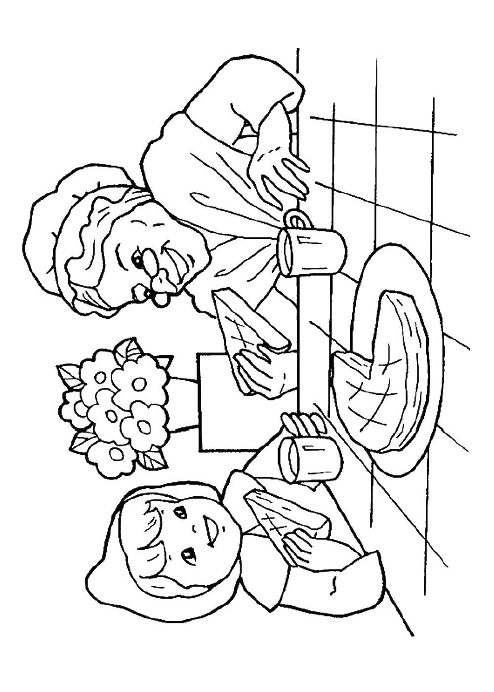 Little Red Riding Hood Coloring Pages Birthday Printable