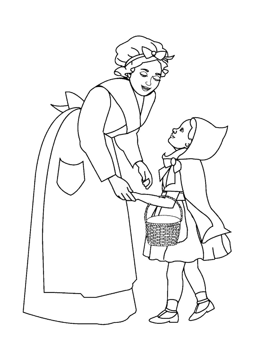 Little Red Riding Hood Coloring Pages – Birthday Printable