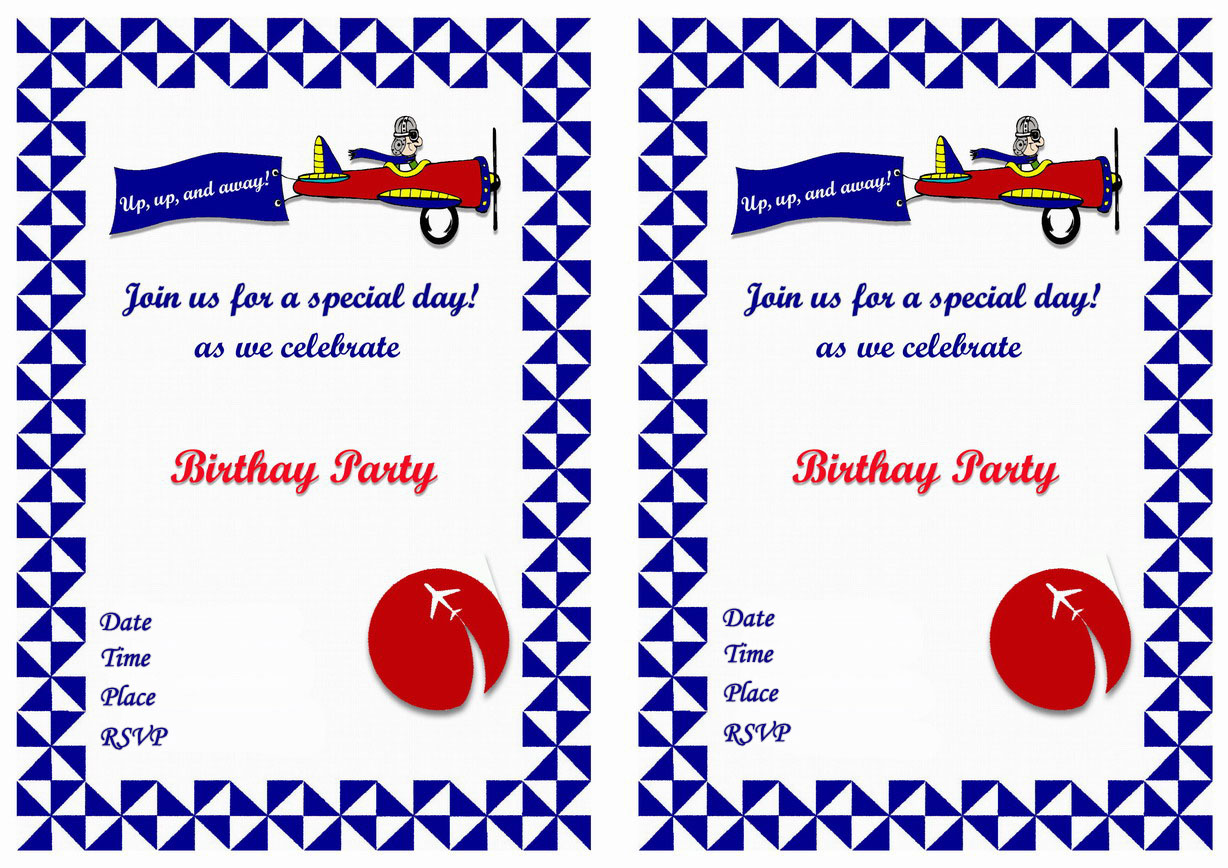 Planes Birthday Invitations – Birthday Printable