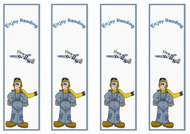 Planes Bookmarks Birthday Printable