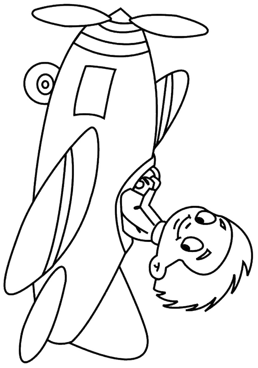 Planes Coloring Pages Birthday