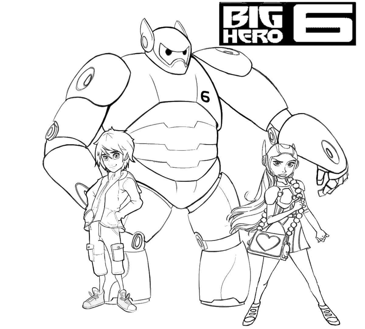 Big Hero 6 Coloring Pages Birthday Printable Big 6 Coloring Pages
