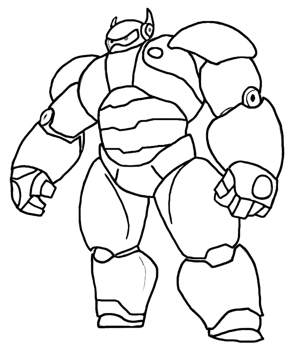 Big hero 6 coloring pages birthday printable for Large printable coloring pages