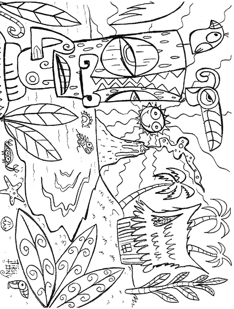 Free Printable Coloring Pages : Luau coloring pages birthday printable