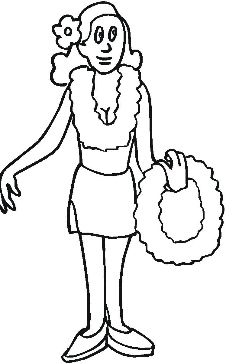 free luau party coloring pages - photo#20