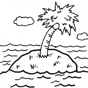 free luau party coloring pages - photo#27