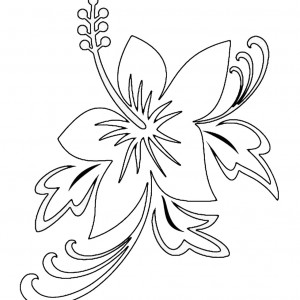 free luau party coloring pages - photo#25