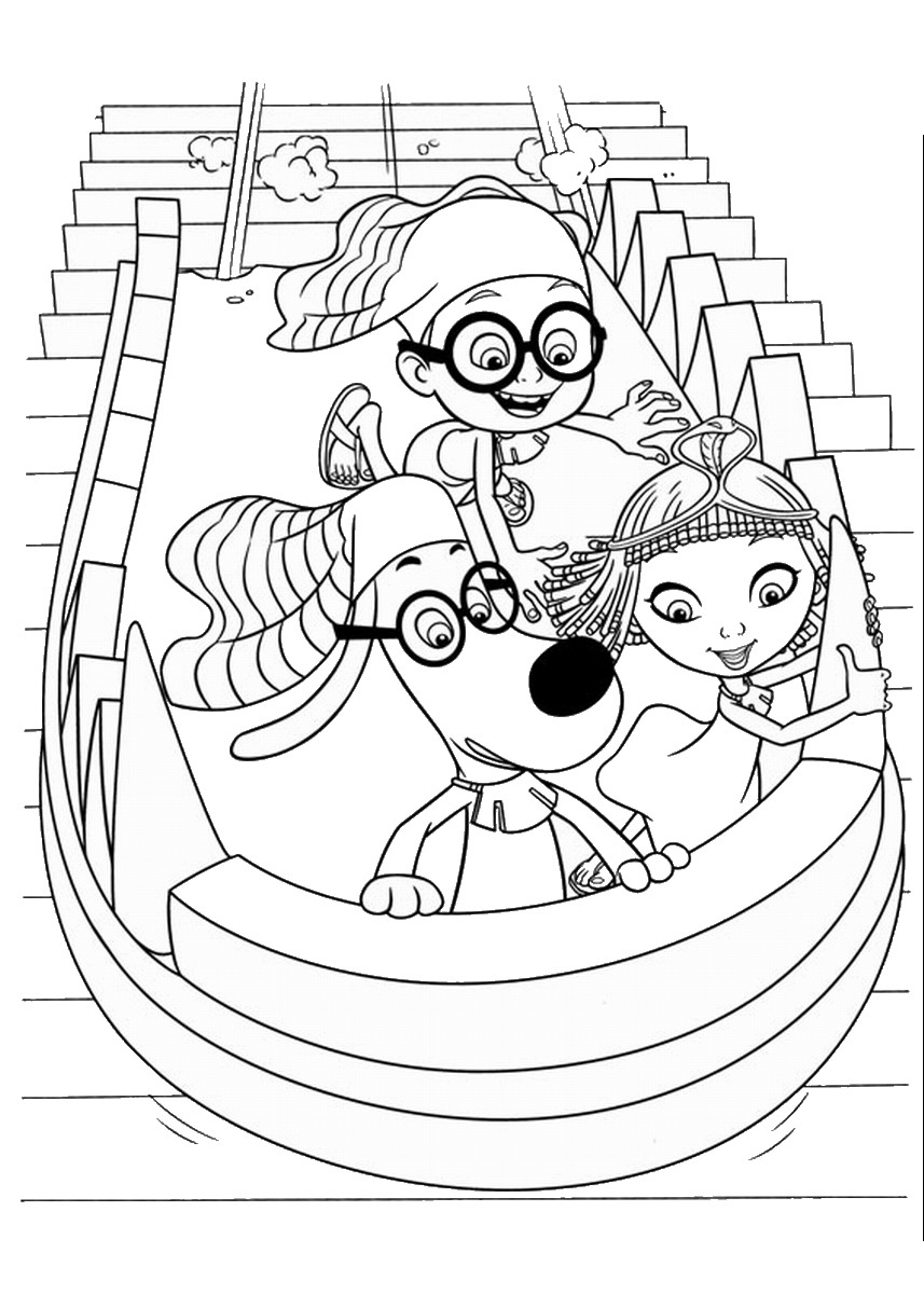 Mr Peabody and Sherman Coloring