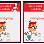 Mr. Peabody and Sherman Birthday Invitations