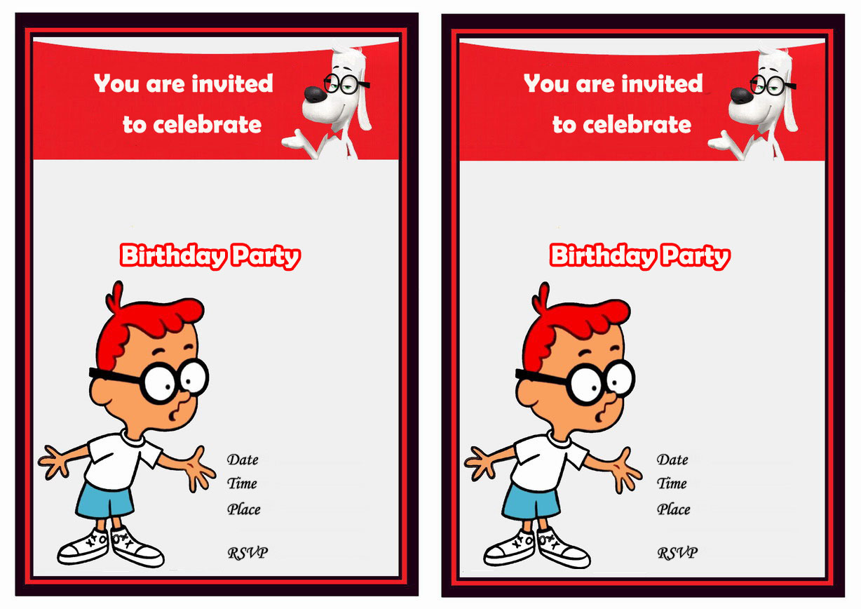 Mr. Peabody and Sherman Birthday Invitations – Birthday Printable