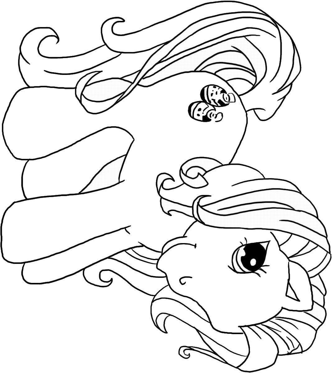 My Little Pony Coloring Pages Birthday Printable