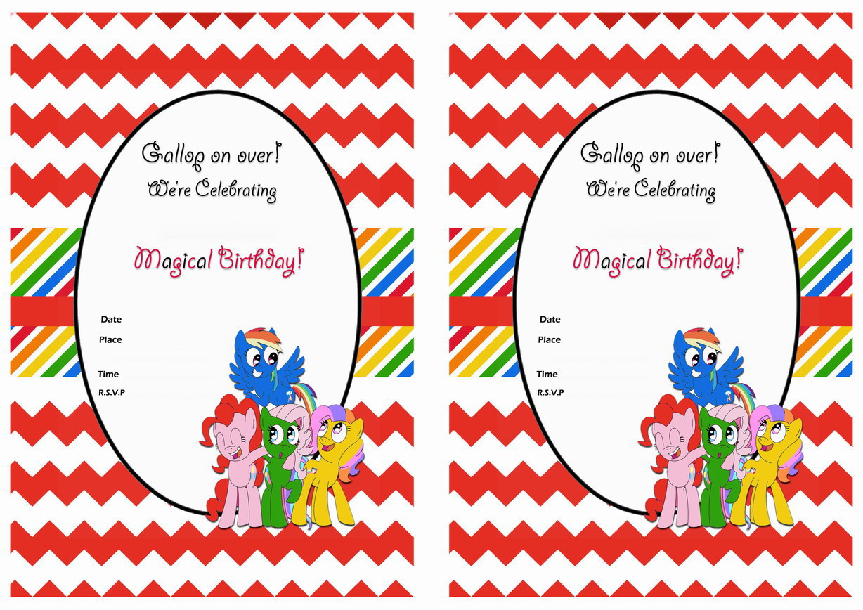 It's just a graphic of Sizzling Free Printable My Little Pony Birthday Invitations