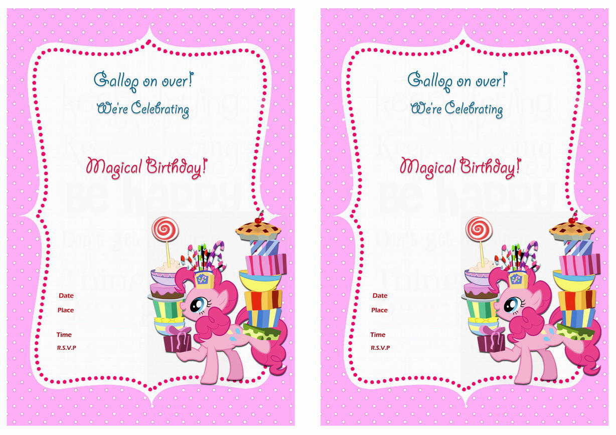 Canny image with regard to free printable my little pony birthday invitations