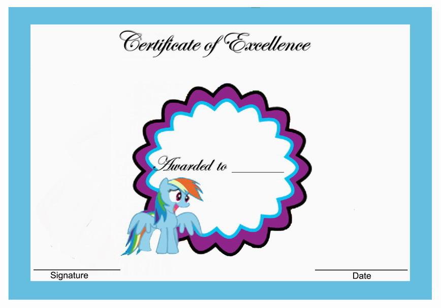 My Little Pony Birthday Awards