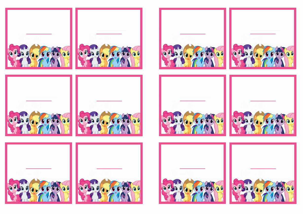 My Little Pony Name Tags Birthday Printable