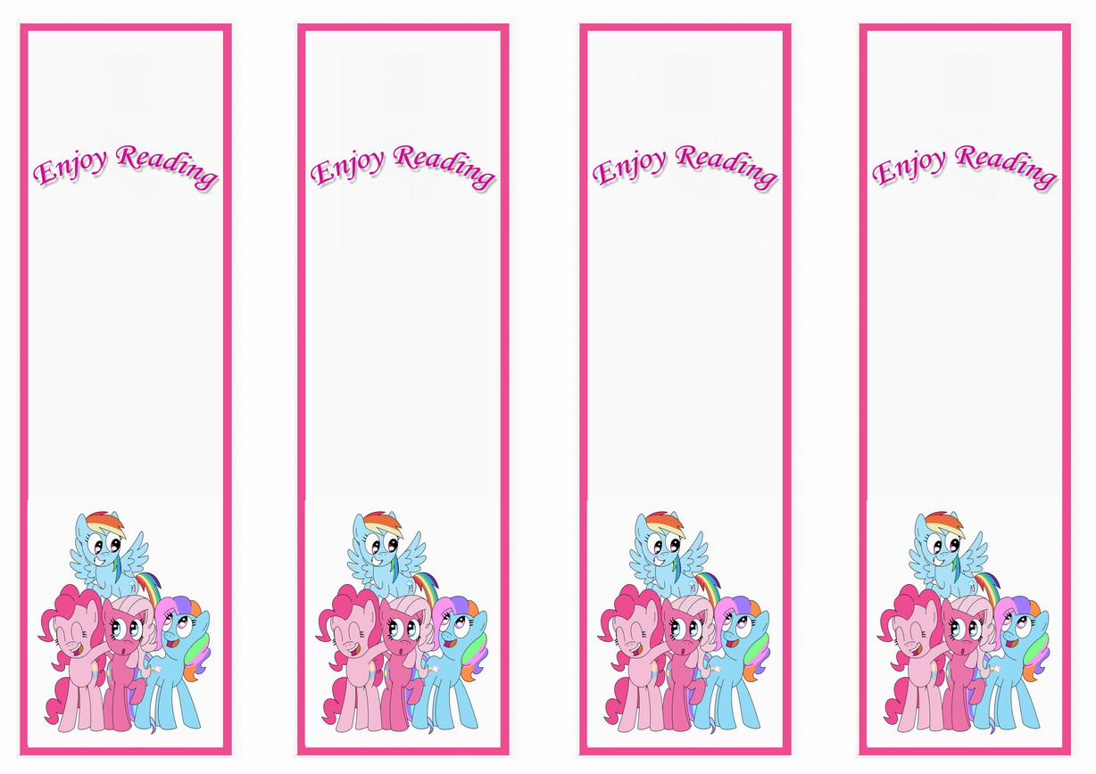 My Little Pony Bookmarks – Birthday Printable