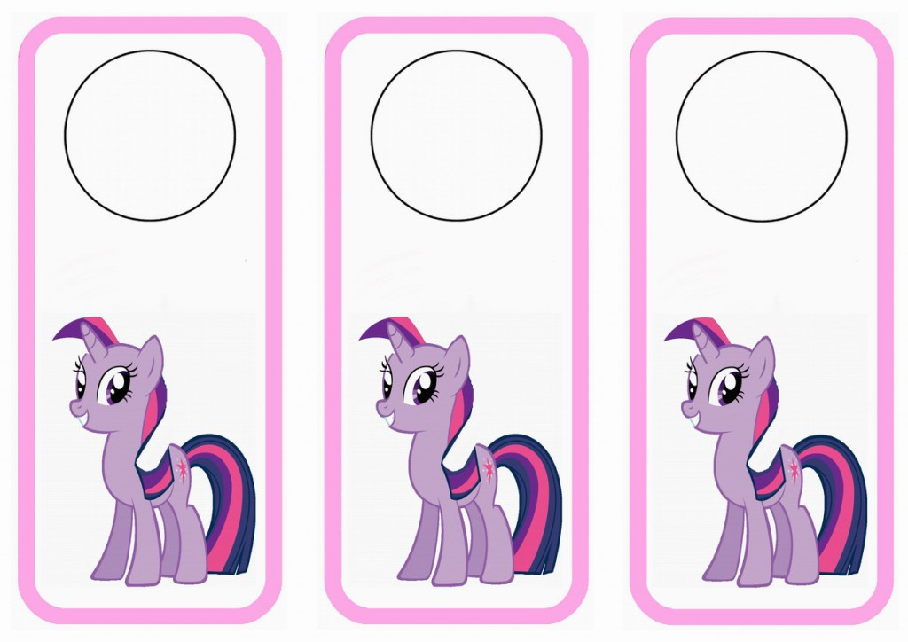 my little pony door hangers birthday printable. Black Bedroom Furniture Sets. Home Design Ideas