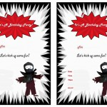 Ninja Warriors Birthday Invitations