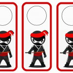 Ninja Warriors Door Hangers