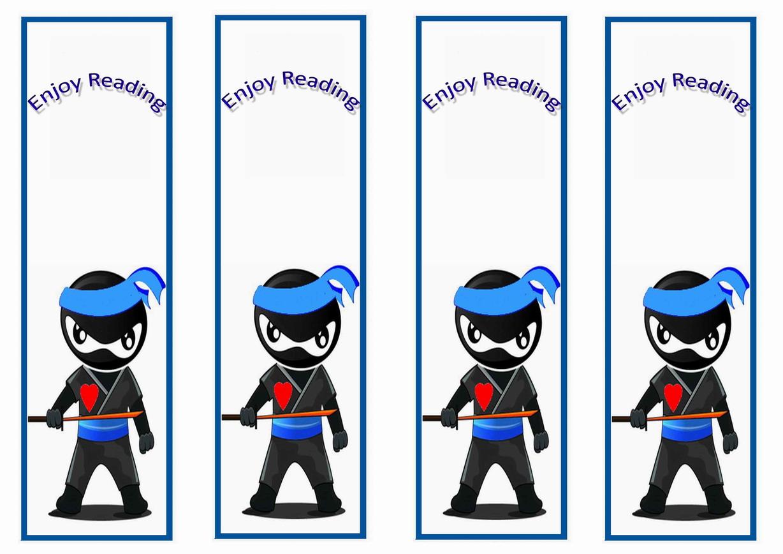 ninja warriors bookmarks