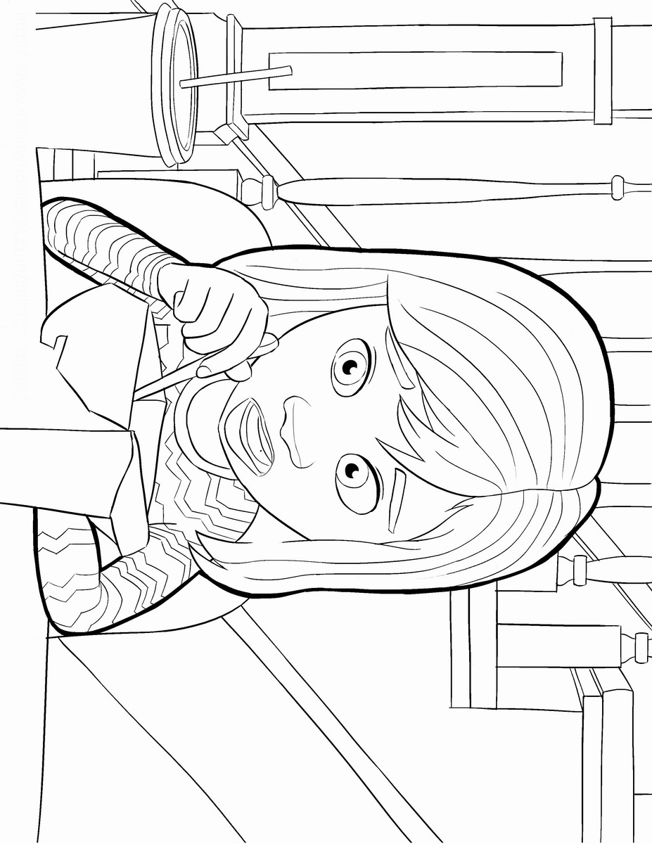 Inside Out Coloring Pages Birthday