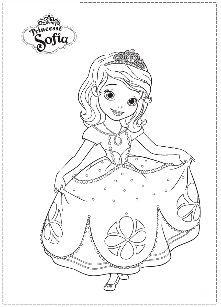 Sofia the First Coloring Pages Birthday Printable