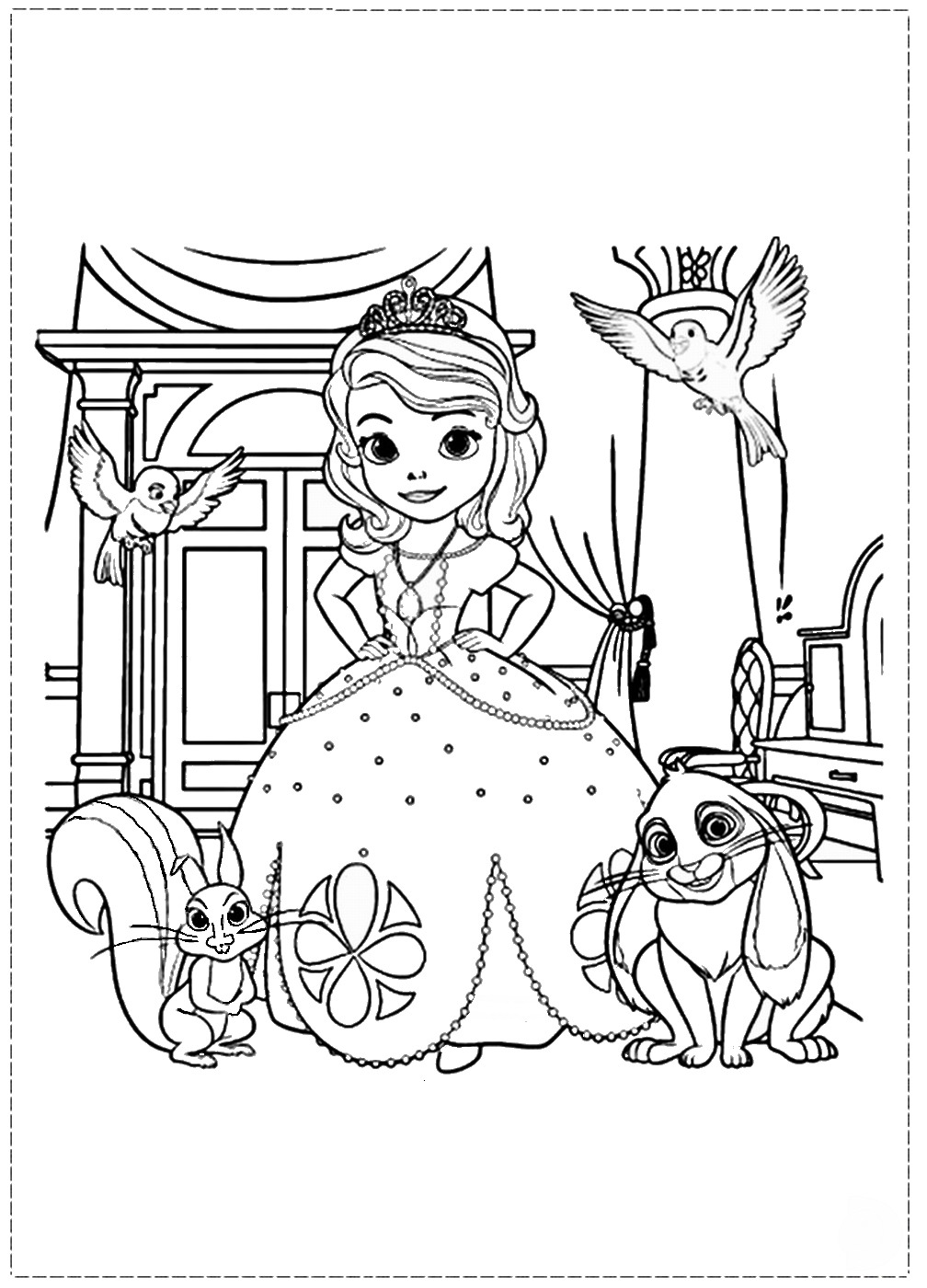 sofia the first free printable coloring pages