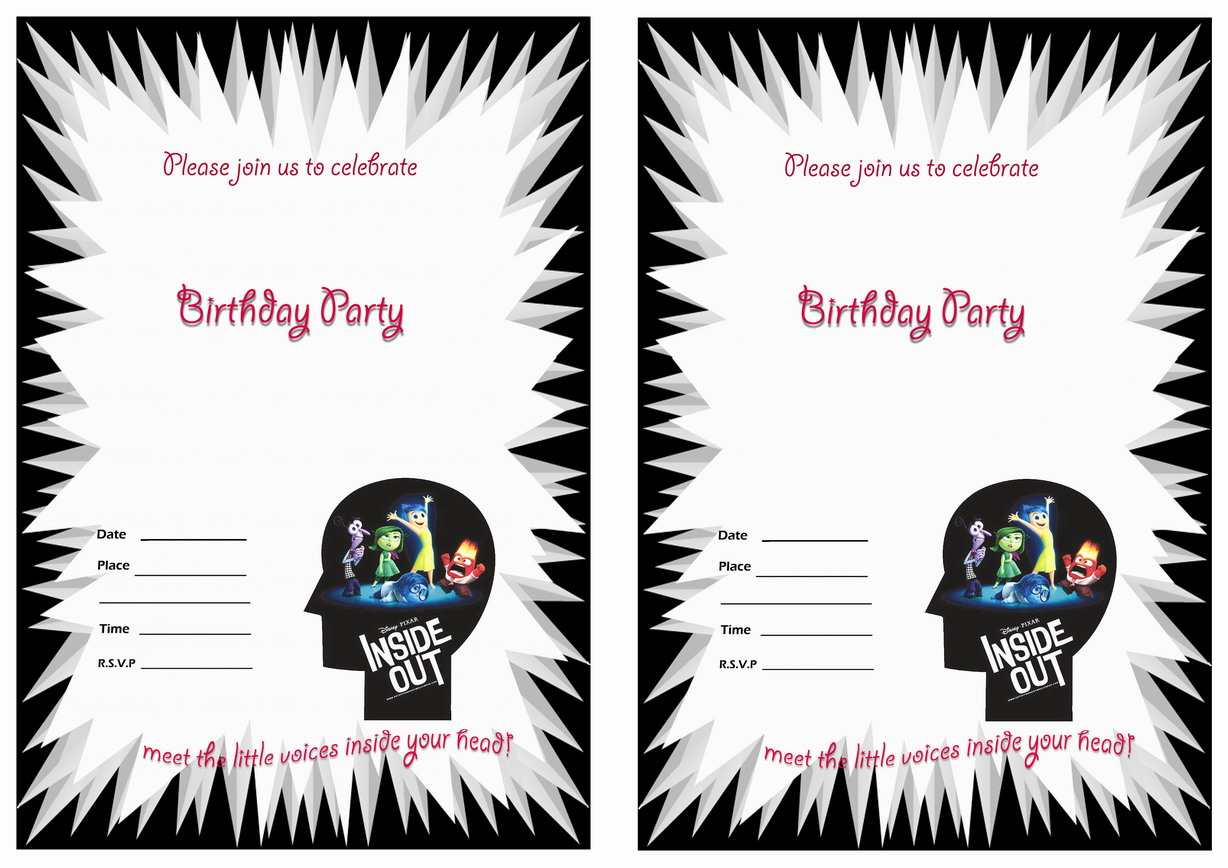 Inside Out Birthday Invitations Birthday Printable - Birthday invitations inside out