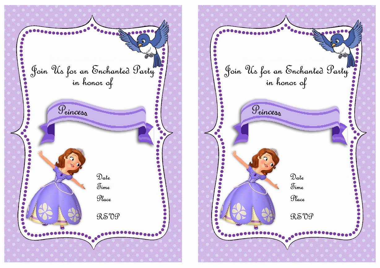 Sofia the First Birthday Invitations – Birthday Printable