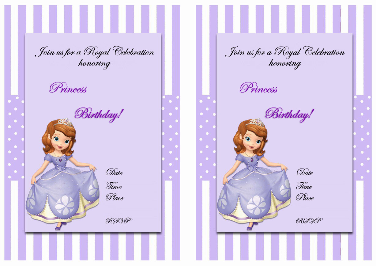 Sofia The First Birthday Invitations gangcraftnet – First Birthday Printable Invitations