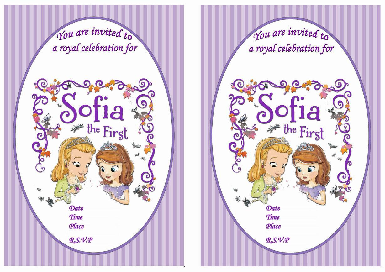 Sofia the First Birthday Invitations – Birthday Printable