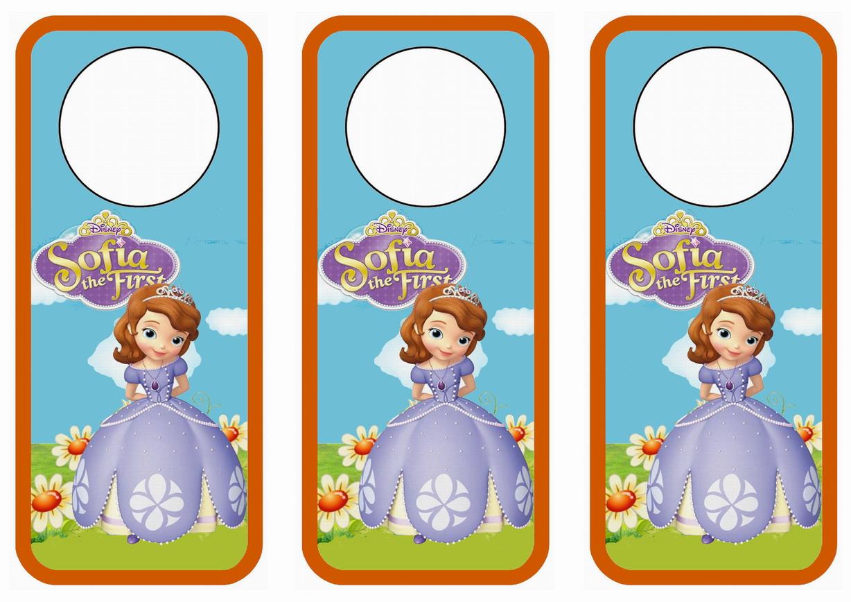 Sofia the First Door Hangers Birthday Printable