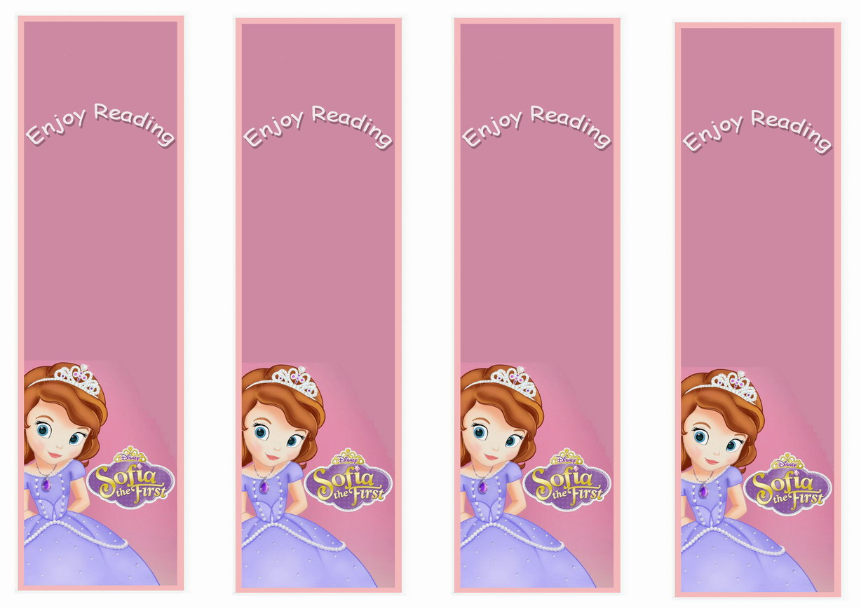 Sofia The First Bookmarks Birthday Printable