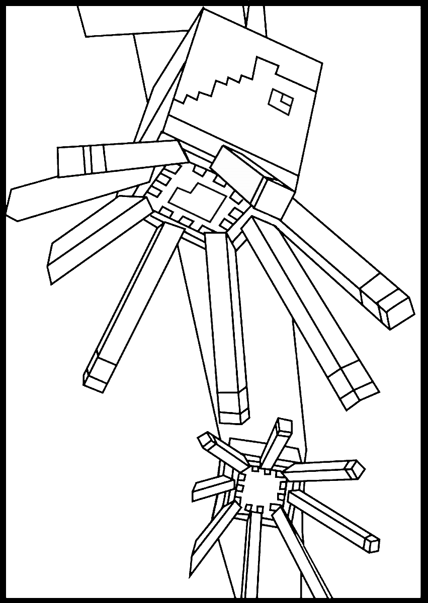 Minecraft Coloring Pages Birthday