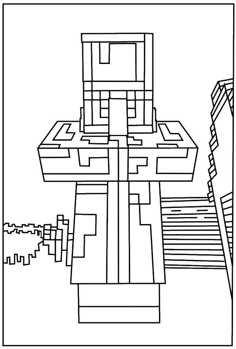 Minecraft Coloring Pages Birthday Printable