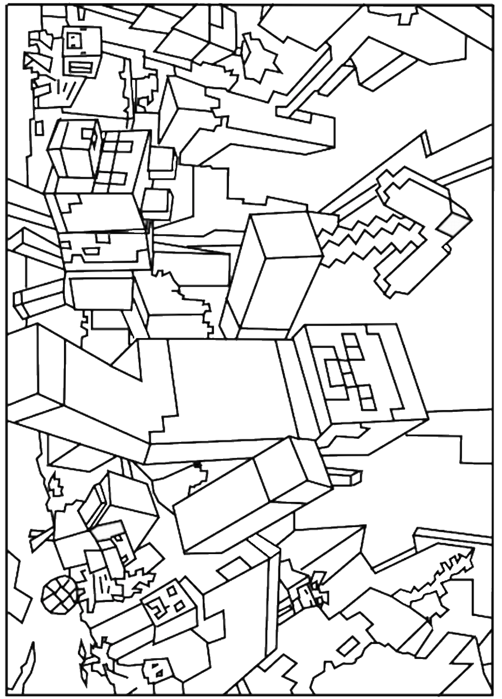 It's just a photo of Punchy Minecraft Coloring Pages Free