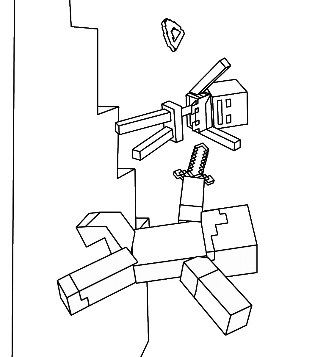 Minecraft Coloring Pages - Birthday Printable